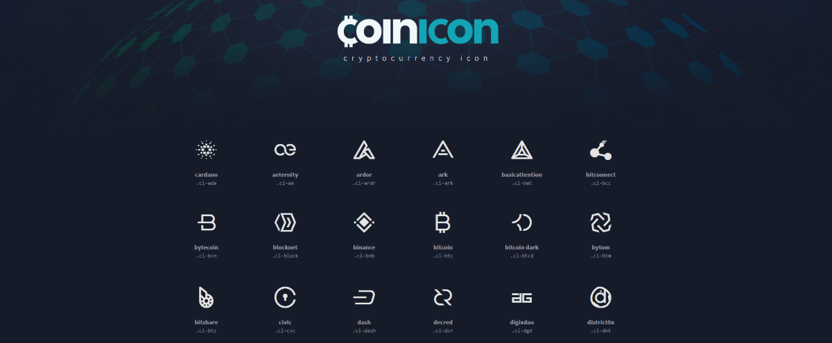 Crypto Currency Icons That Pop off the Page
