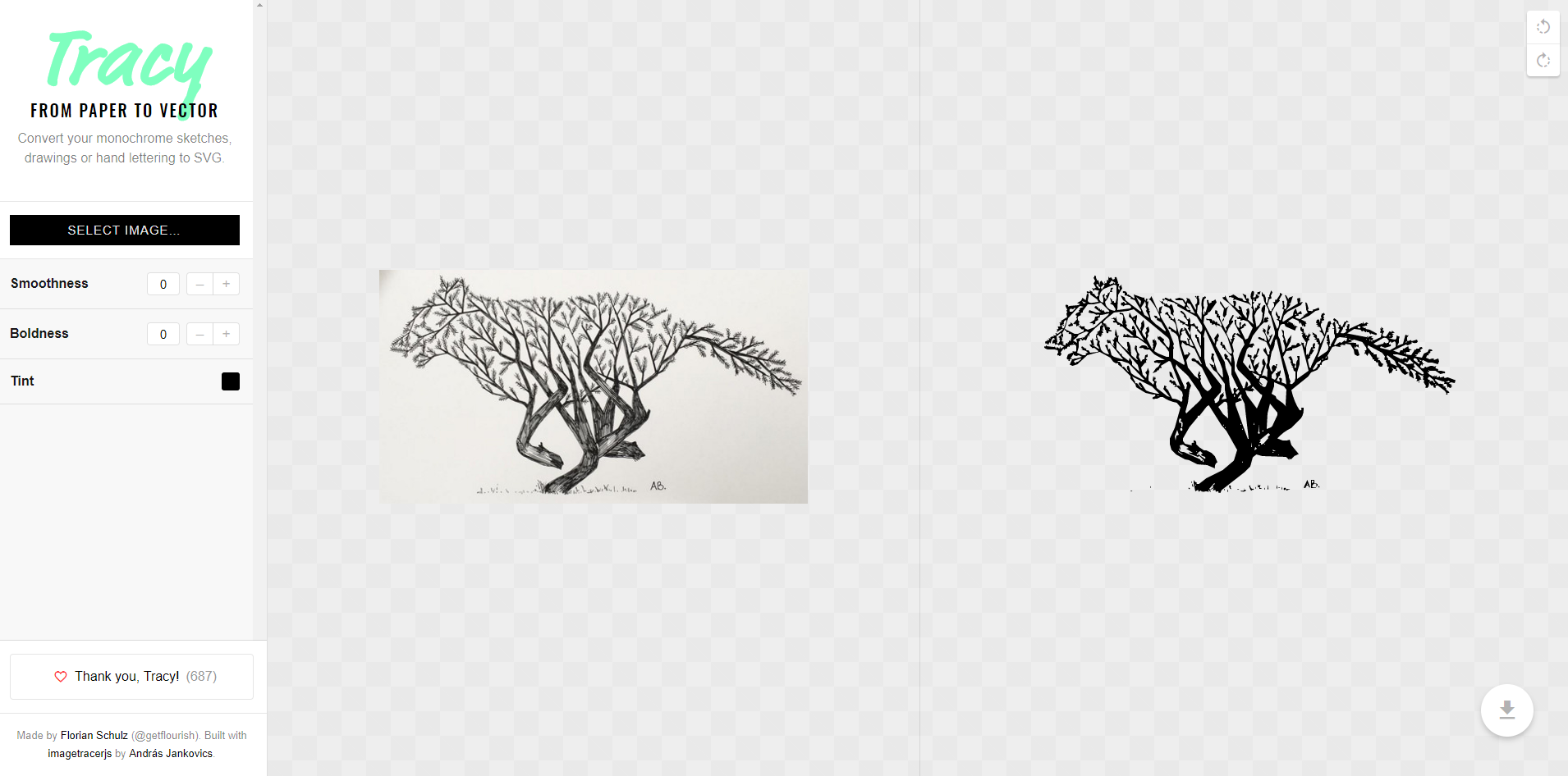 Monochrome Drawings, Sketches, or Even Calligraphy into SVG