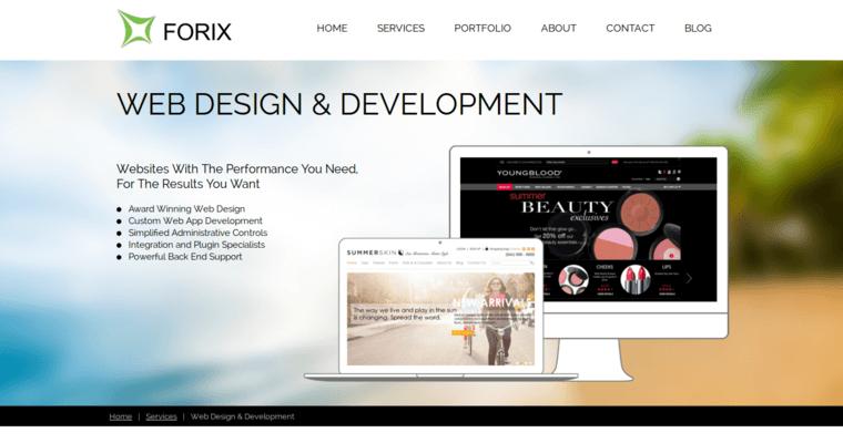 Forix web design best web design firms for Best architect website