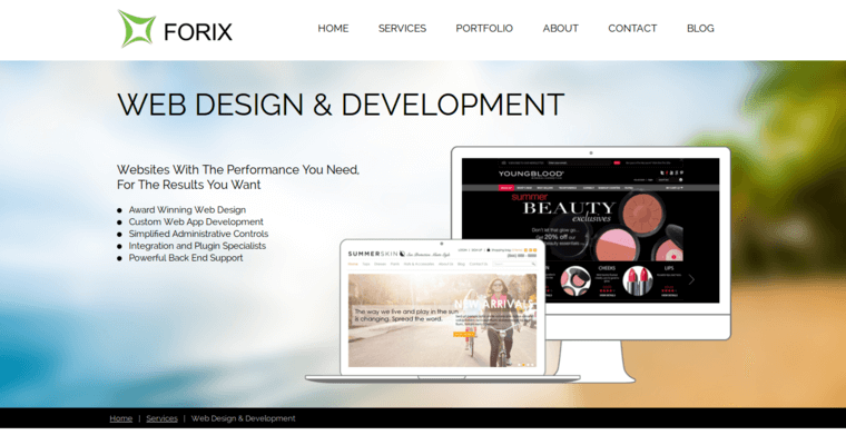 Forix Web Design Development Page