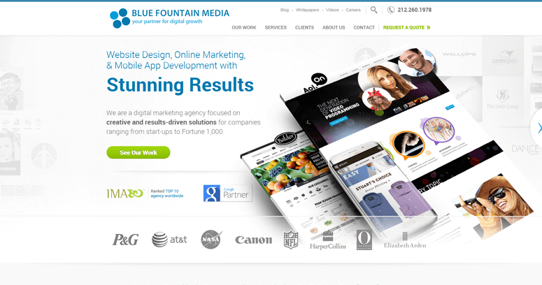 Blue Fountain Media | Best Architecture Web Design Firms