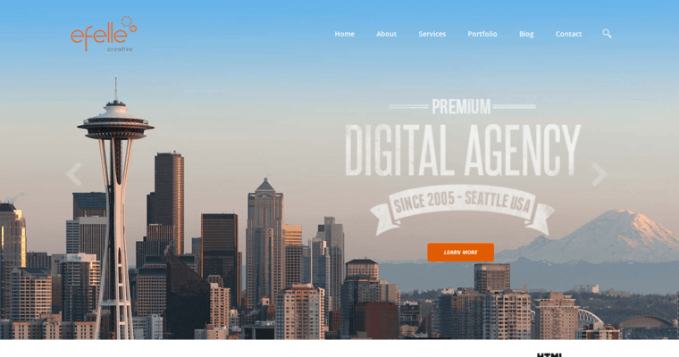 Home Page Of #6 Best Architecture Web Design Agency: Efelle Creative