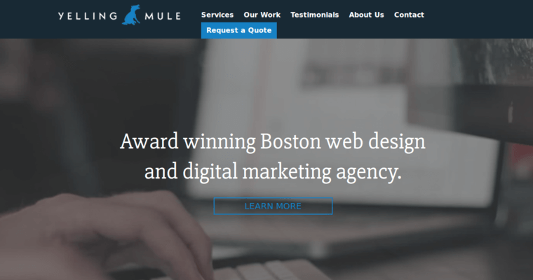 Yelling mule best boston web design agencies 10 best for Best architecture firm websites