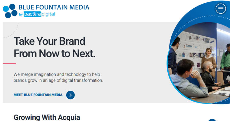 Home Page Of 2 Best Chicago Website Design Firm Blue Fountain Media