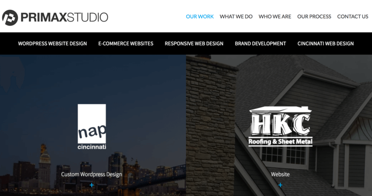 Work Page Of #6 Top Cincinnati Web Design Company: Primax Studio