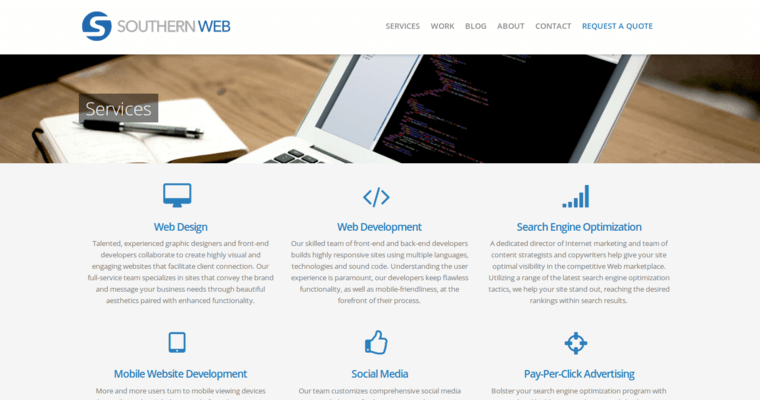 Southern web group best corporate web design firms for Service design firms