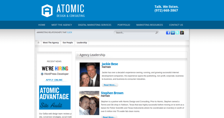 Atomic design best web design firms dallas for Best architecture firm websites
