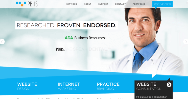 PBHS | Leading Dental Web Design Firms | 10 Best Design
