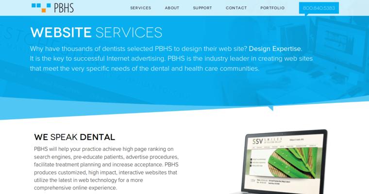 Pbhs Leading Dental Web Design Firms 10 Best Design