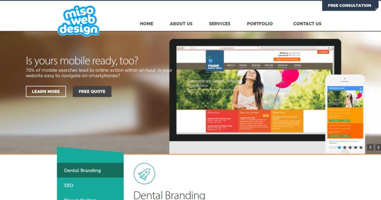 Miso Web Design Home Page