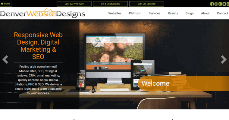 Denver Website Designs Home Page