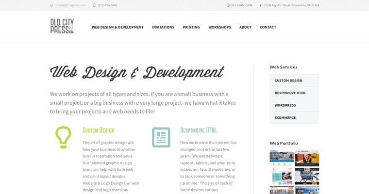 Old City Press | Best Drupal Web Design Firms