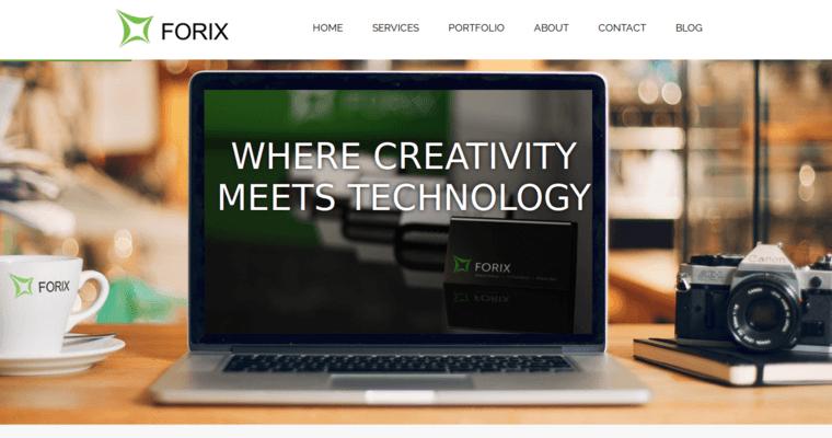 home page of 5 top drupal web design business forix web design