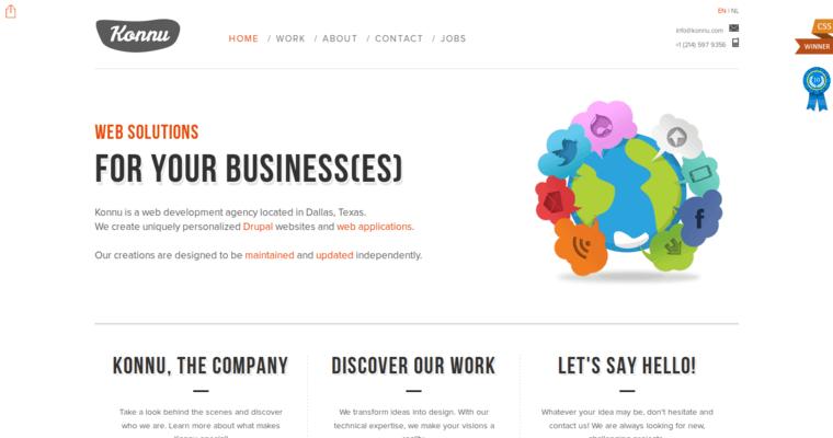 Konnu | Best Drupal Website Design Firms | 10 Best Design