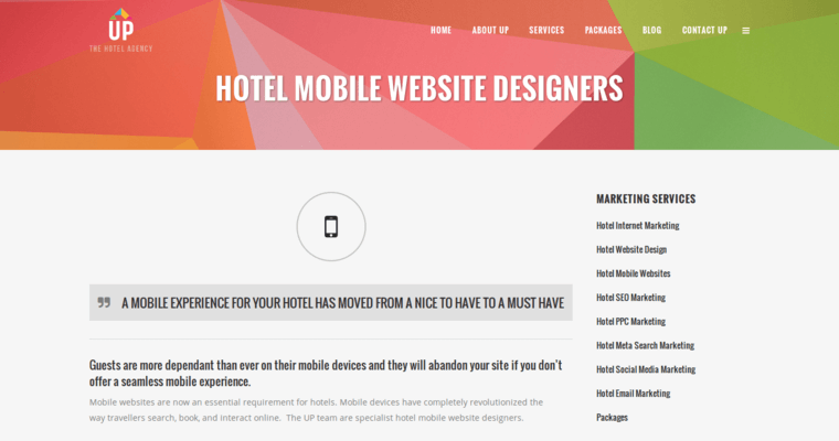 Websites page of 2 best hotel web design company up the hotel