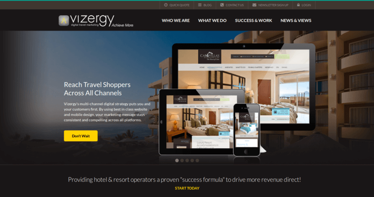 Vizergy top hotel web design firms 10 best design for Hotel web design