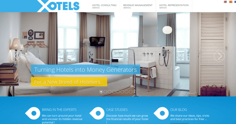 Home Page Of 4 Top Hotel Web Design Firm Xotels