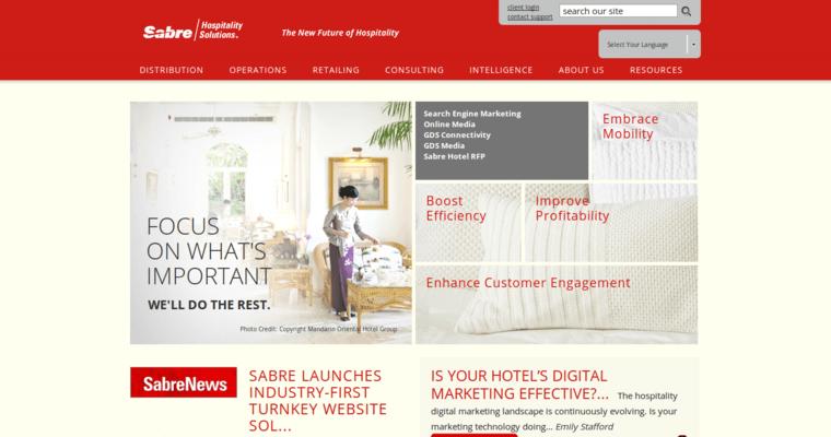 Sabre Hospitality Best Hotel Web Design Firms