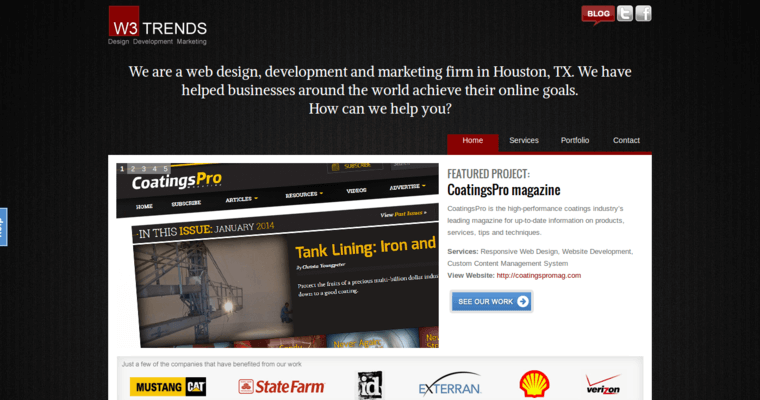 W3 Trends Web Design Home Page