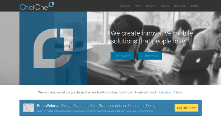 Chai One Home Page
