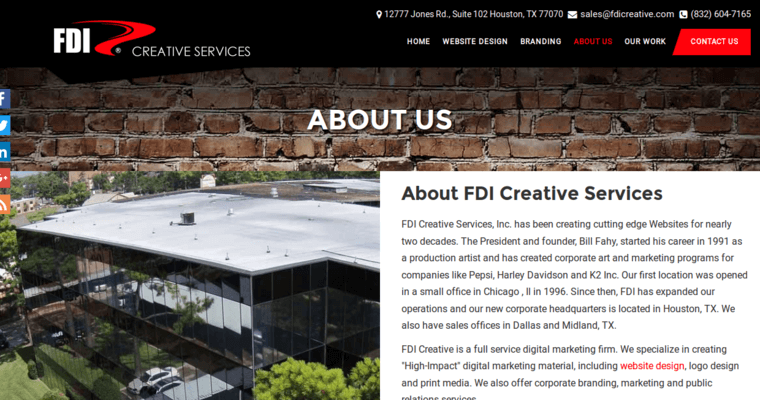 Fdi creative best web design firms houston for Top architecture firms houston