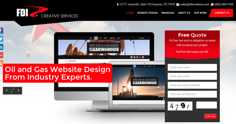 Fdi creative best web design firms houston for Best architecture firm websites