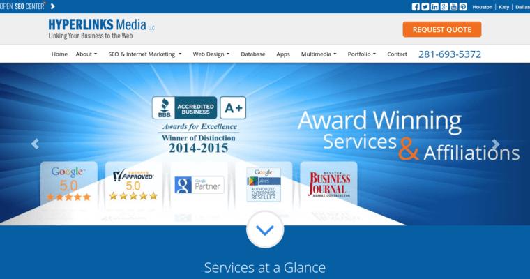Hyperlinks Media Best Web Design Firms Houston