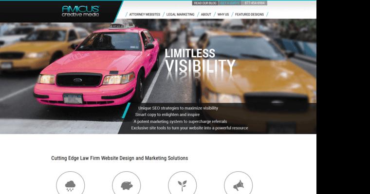 amicus creative media best law web design firms 10 best design