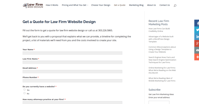 Law Firm Web Design – Web Design Quote Template