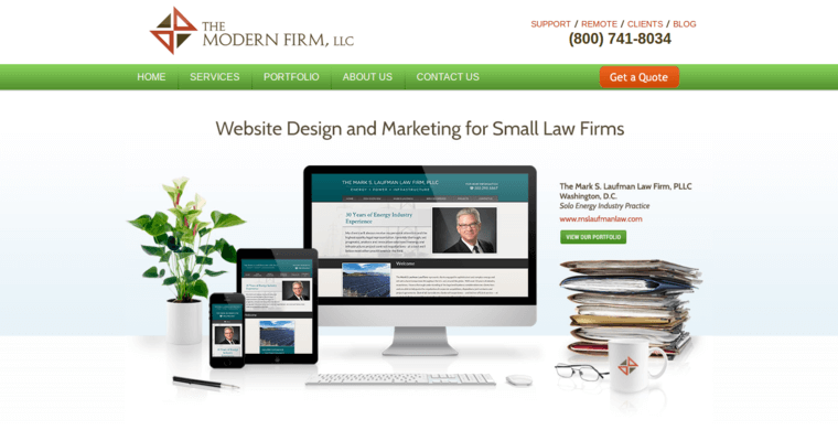 The modern firm best law web design firms for Best architecture firm websites