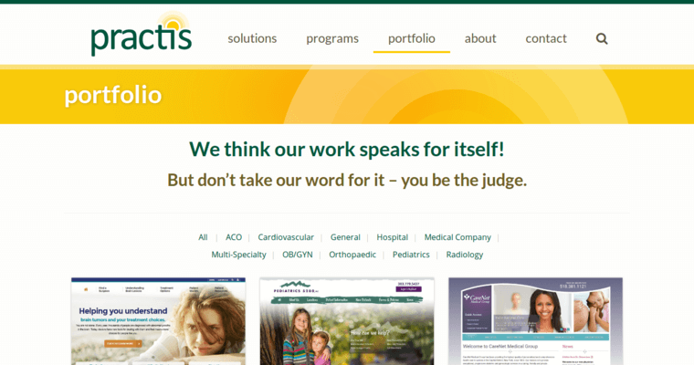 Practis Inc Best Medical Web Design Firms