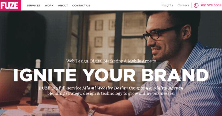 Fuze Inc Leading Miami Web Design Companies 10 Best Design