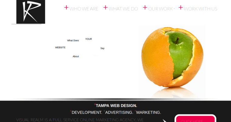 homepage of 7 best new web design firm visual realm