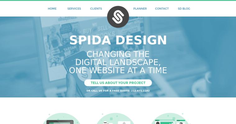 Spida design best web design firms nyc for Best home plan websites