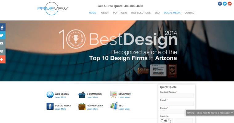 Primeview Best Web Design Firms Phoenix