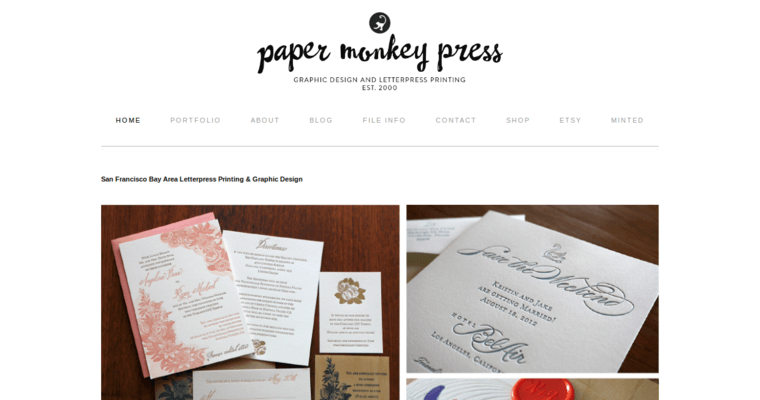 Paper monkey press best business card design firms paper monkey press home page reheart Images
