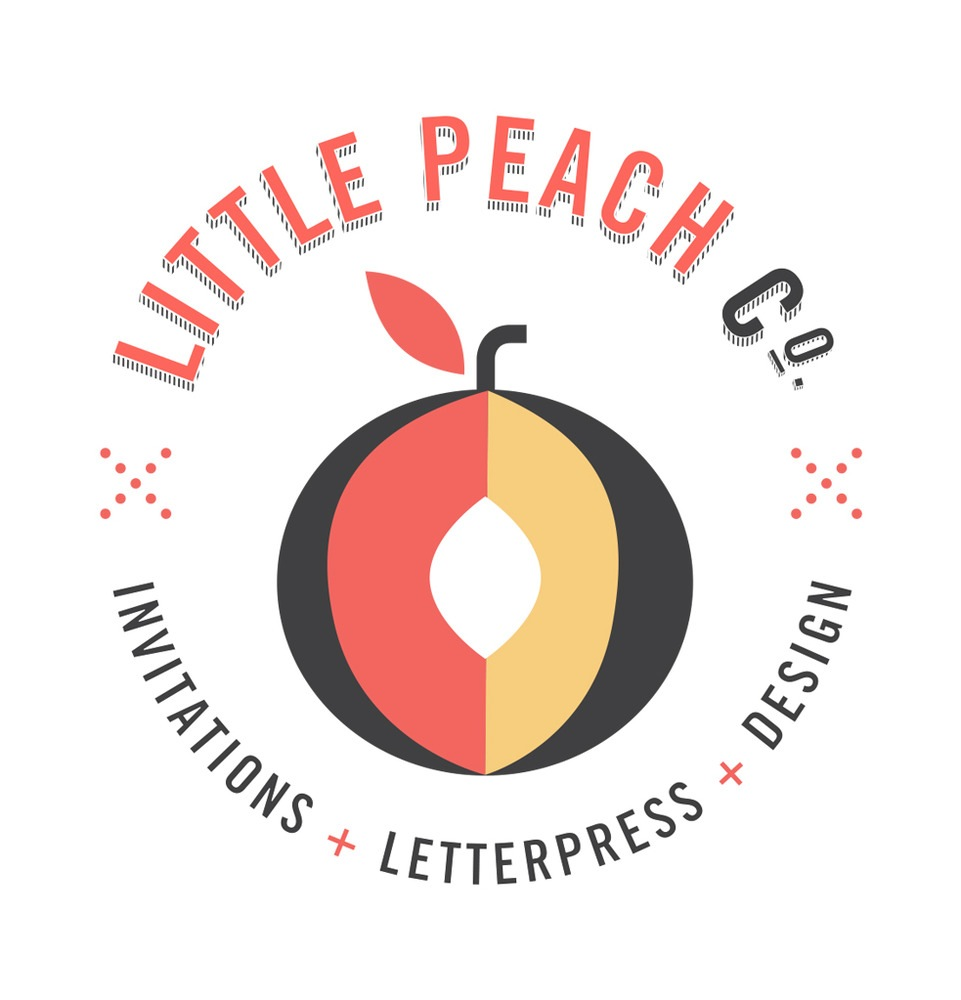 Top Invitation Design Business Logo: Little Peach Co