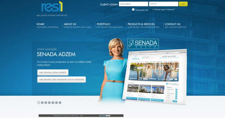 Resi online best real estate web design firms for Best architecture firm websites