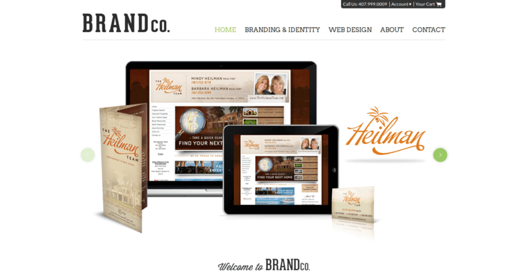 BrandCo Home Page Screenshot From The Award Winning Leading Real Estate Web  Development Business