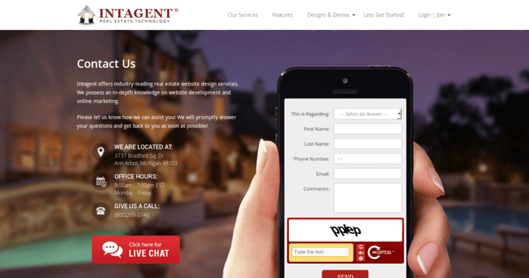 Top Real Estate Development Firms : Intagent best real estate web design businesses