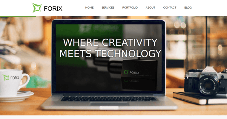 homepage of 1 best responsive web design firm forix web design