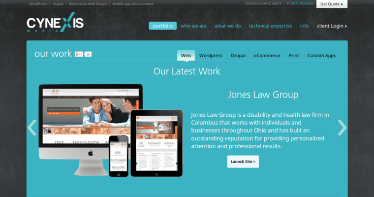 Cynexis best responsive web design firms for Best architecture firm websites