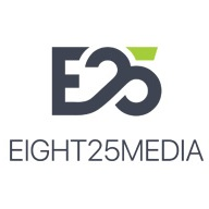 Best Responsive Web Development Company Logo: EIGHT25MEDIA