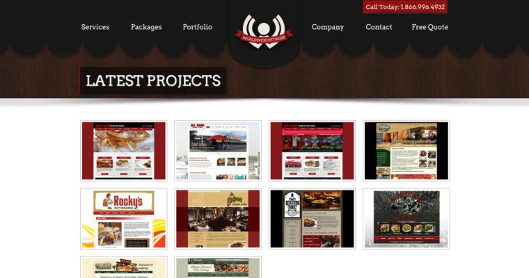 Worldwide optimize best restaurant web design firms