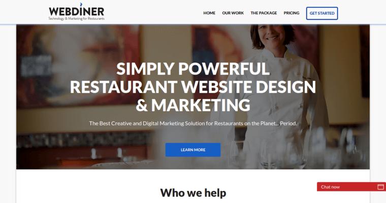Webdiner best restaurant web design companies