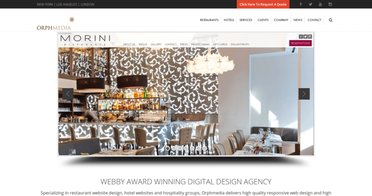 Orphmedia best restaurant web design firms