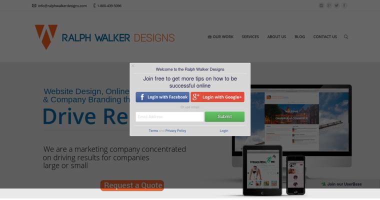 Ralph walker designs best restaurant web design firms