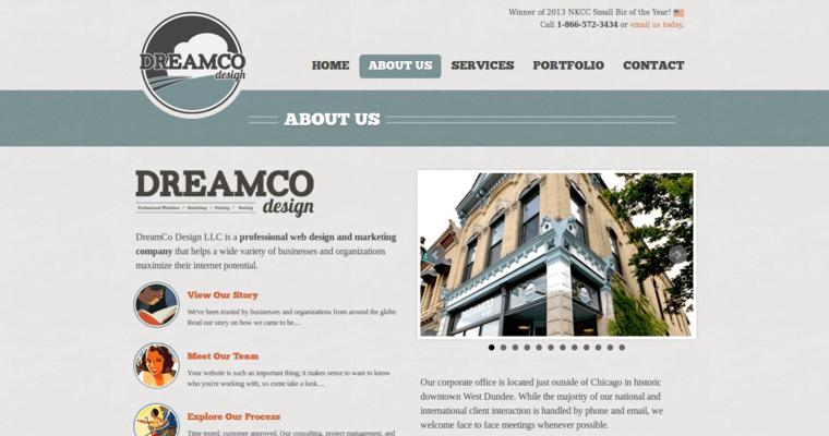 Dreamco design best restaurant web firms
