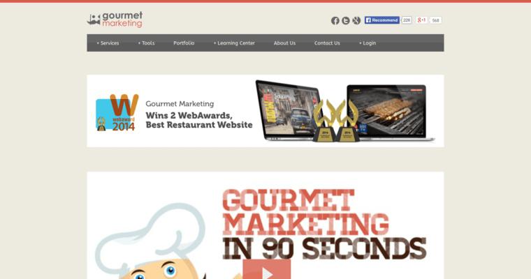 Gourmet marketing best restaurant web design firms