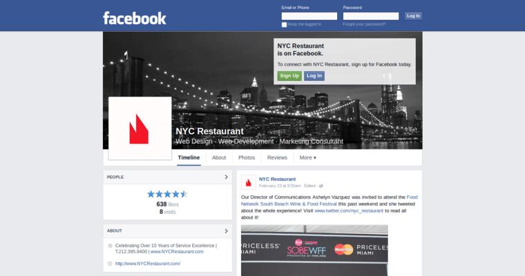 Nyc restaurant best web design firms